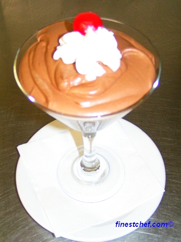 Chocolate mousse in martini glass