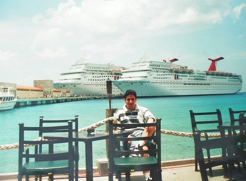 In Cozumel when I was working in Carnival Cruise Lines