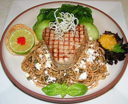 Grilled tuna steak picture