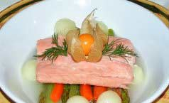 Fine dining recipe for Poached Trout Fillet