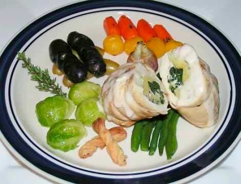 chicken rolls 4 boneless skinless chicken breasts 150 gr fresh spinach ...