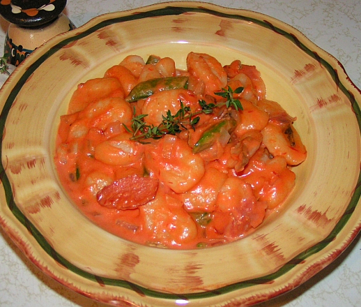 Gnocchi pasta with blush sauce