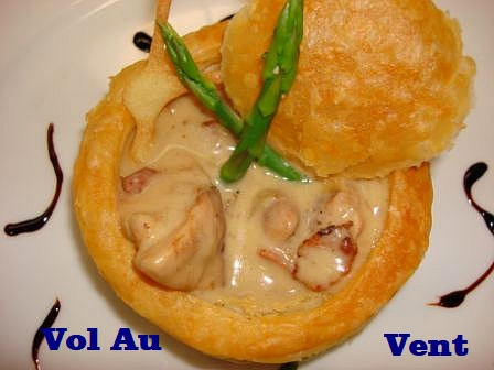 Vol-au-vent with chicken