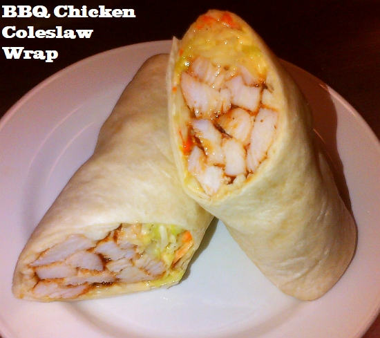 BBQ chicken coleslaw wrap