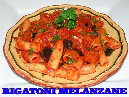 Rigatoni melanzane eggplant pasta