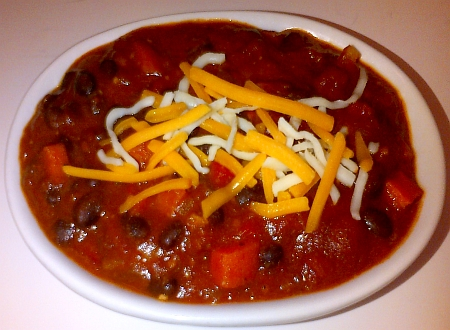 Vegetarian no meat chili