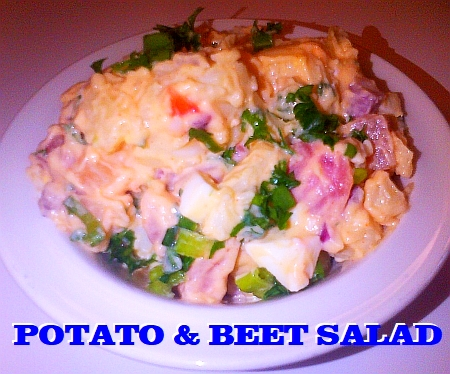 Potato and beet salad.