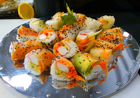 Springroll sushi rolls