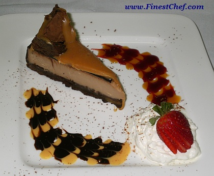 Chocolate caramel cheesecake picture