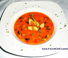 Cold gazpacho soup recipe