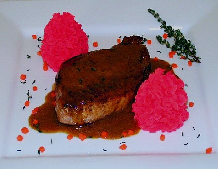 Roasted pork loin with Grand Marnier sauce