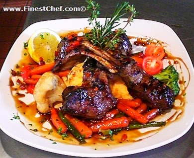 Grilled rack of lamb picture