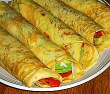 Appetizer crepes recipe with stuffing