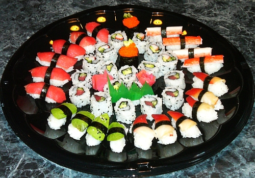 Assorted sushi platter picture