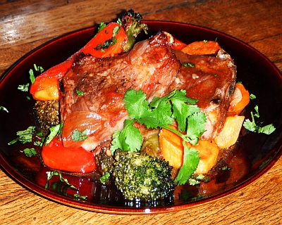 Baked lamb chops picture