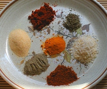 Spices used for blackening seasoning mix
