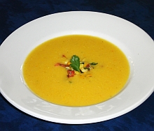 Sweet corn curry soup