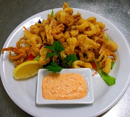 for 4 servings of calamari for the calamari 14 oz calamari squid ...