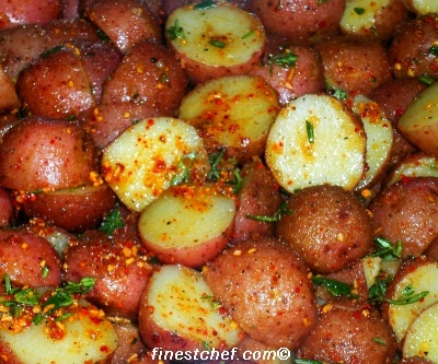 Herbed roasted red potatoes picture