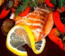 Pan seared salmon fillet