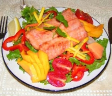 Salmon salad appetizer