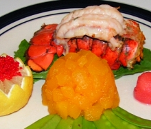 Stuffed lobster tail