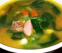 Winter sausage soup recipe