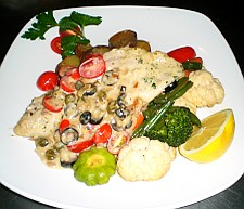 Red snapper fillet Mediterranean recipe
